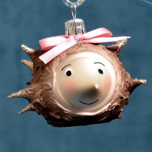 Mrs. Hedgehog Ornament