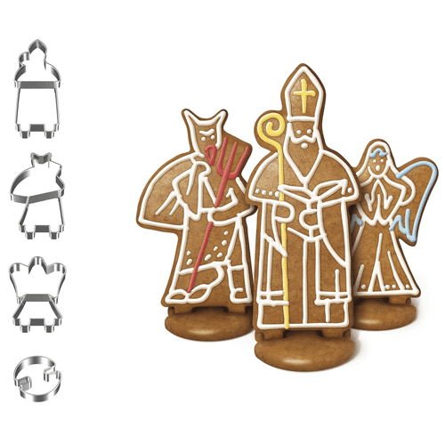 Tescoma Christmas Cookie Cutter 4pc Set