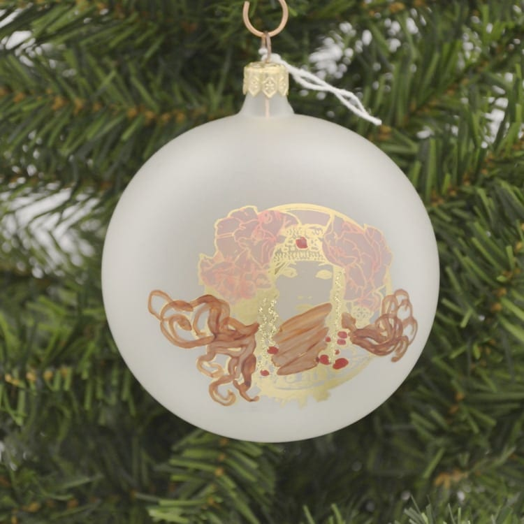 Frosted Mucha Princess Large Ornament
