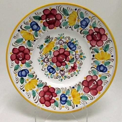 "Modra Rose Floral Plate, 10"""