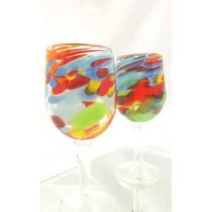 Art Glass Stemware, 8""