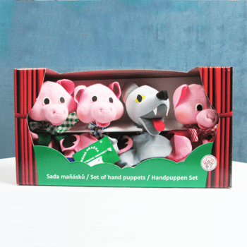 Handmade Three Little Pigs Puppet Set