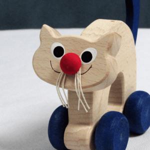Mini Wooden Cat