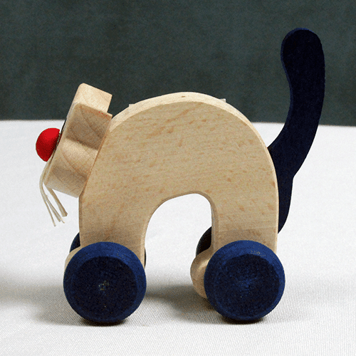 Mini Wooden Cat