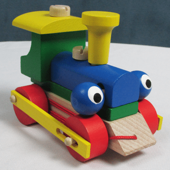 "Wooden ""Blinking"" Train Pull Toy"