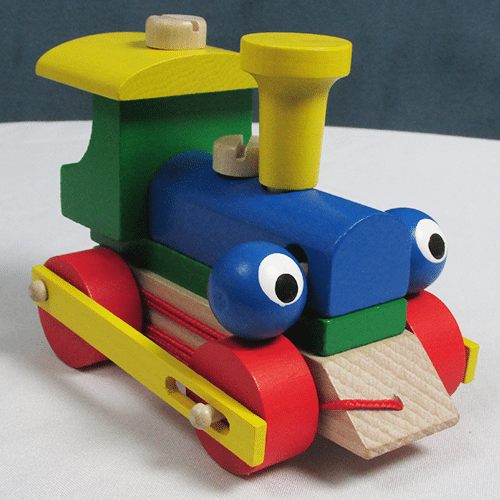 """Wooden """"Blinking"""" Train Pull Toy"""