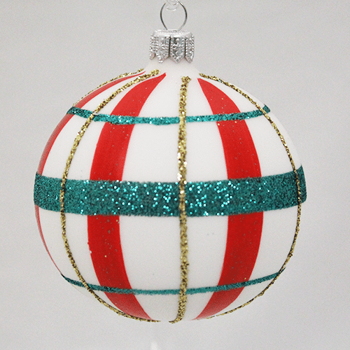 Festive Plaid Ball Ornament