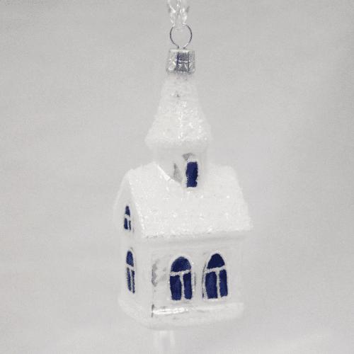 Church Ornament with Blue Windows