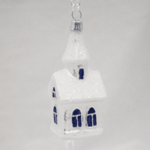 Church Ornament with Blue Windows