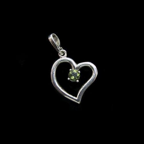 Heart Pendant with Moldavite