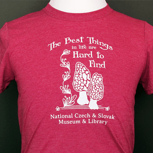 'The Best Things in Life' Houby T-Shirt in Red