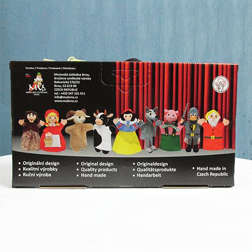 Handmade Three Little Pigs Puppet Set