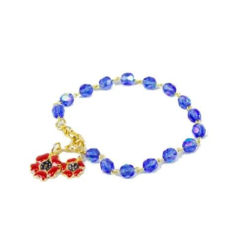 Remembrance Poppy Charm Bracelet (2 Styles)