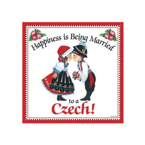 """Happiness is Being Married to a Czech Trivet, 6"""""""