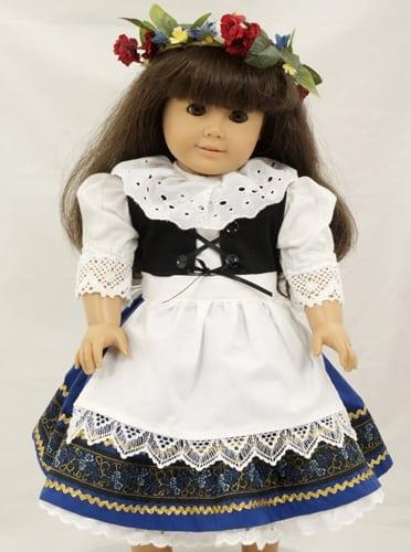 Hand-made Kroj Doll Dress