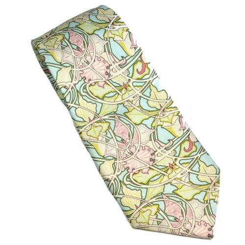 Mucha-inspired Silk Ties