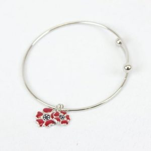 Remembrance Poppy Charm Bracelet (2 Styles)