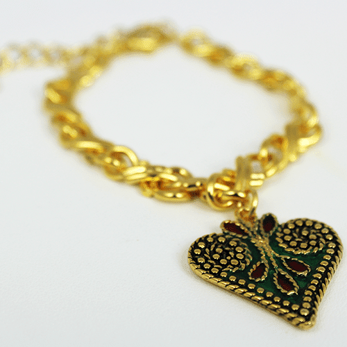 Heart Charm Collection in Green by KJK Jewelry