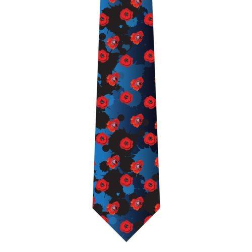 Remembrance Poppy Silk Tie